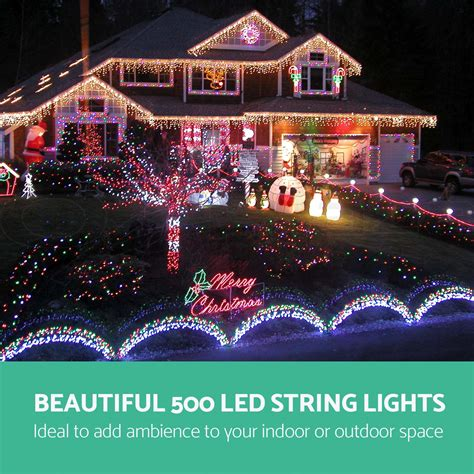 800 led icicle lights outdoor string