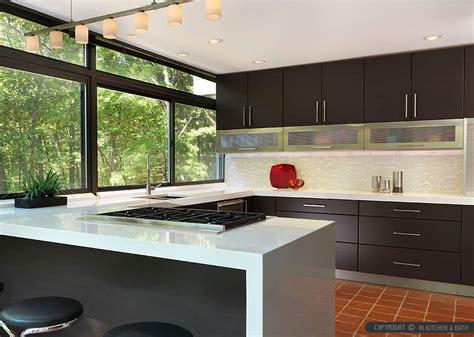 modern backsplashes for kitchens modern espresso kitchen marble glass backsplash tile