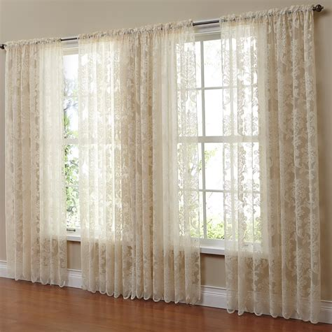 sheer lace curtains window home design ideas