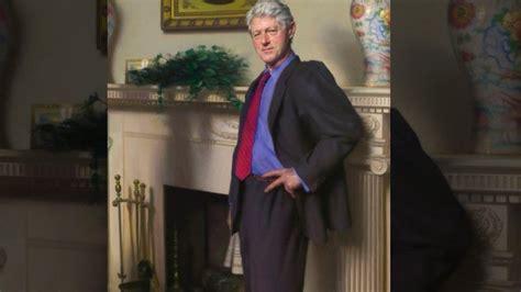artist  bill clinton portrait secretly includes monica