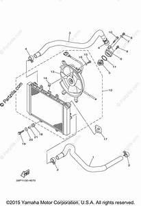 Yamaha Atv 2009 Oem Parts Diagram For Radiator Hose