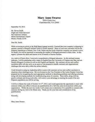 cover letter sles uva career center