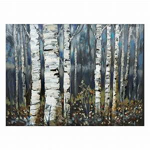 laila39s ili142 11f birch trees canvas art lowe39s canada With kitchen cabinets lowes with 3 piece canvas wall art sets