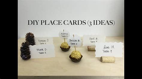 diy place cards 3 ideas youtube