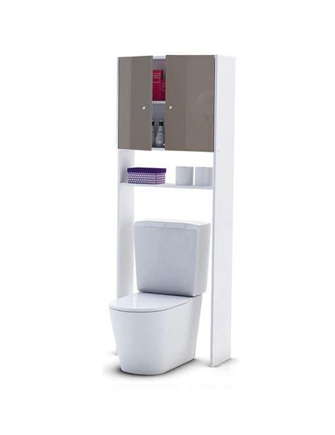 Même dans les wc, on a besoin d'un meuble. Meuble WC avec finition high-gloss, taupe
