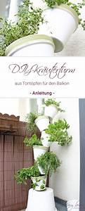Kräuter Für Den Garten : diy kr uterturm aus tont pfen f r den balkon garten garten balkon und garten deko ~ Eleganceandgraceweddings.com Haus und Dekorationen