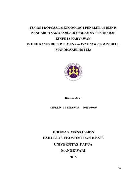 Tugas Metodologi Penelitian Bisnis (Pengaruh Knowledge