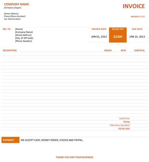 graphic design invoice