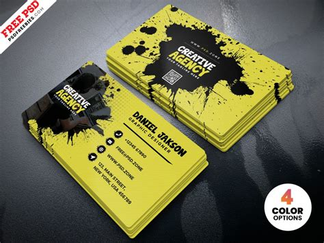 agency business card design psd psdfreebiescom