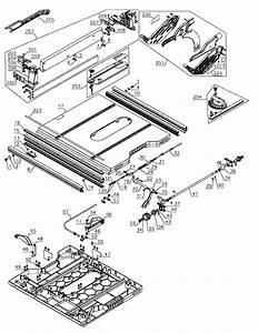Dewalt Model Dwe7491rs Type 1 Table Saw Genuine Parts