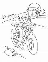 Coloring Riding Bike Bicycle Popular sketch template