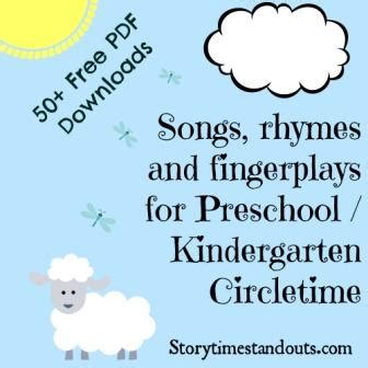 free printable rhymes songs chants and fingerplays 891 | Songs rhymes and fingerplays compressed