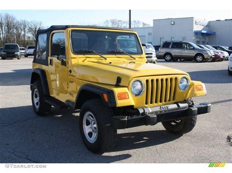 jeep yellow 2002 solar yellow jeep wrangler sport 4x4 56874212