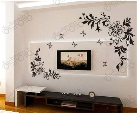 drawing decoration bianhua vine flower butterfly removable wall decals vinyl Wall
