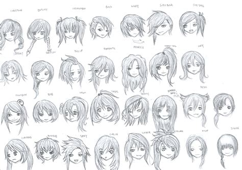 anime female hairstyles names hair