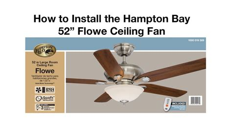 how to install a ceiling fan flowe