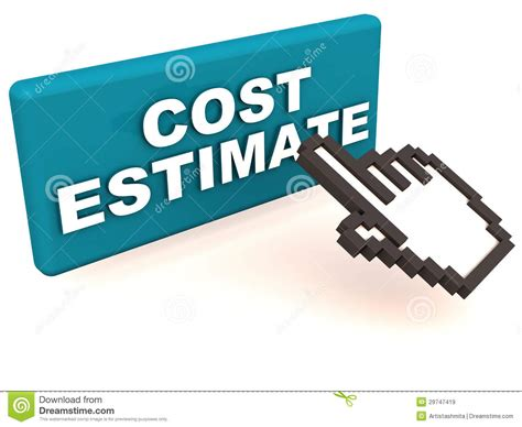 cost estimate royalty  stock images image