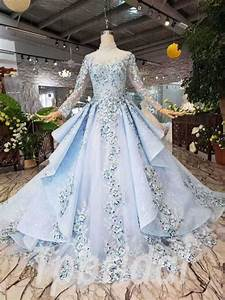 Bridal Size Chart Light Blue Prom Dress High Neck Long Sleeve Quinceanera