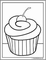 Cupcake Coloring Cherry Pages Cupcakes Sheets Printable Sheet Pdf Printables Colorwithfuzzy sketch template