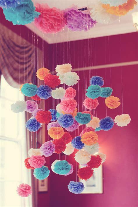 wedding decor ideas poms poms
