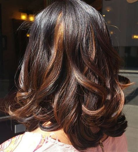 Highlight Hairstyles by 40 Ideas Of Peek A Boo Highlights For Any Hair Color
