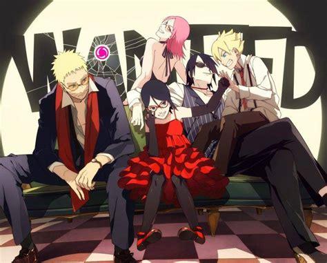 Uzumaki Naruto, Uzumaki Boruto, Sarada Uchiha, Haruno