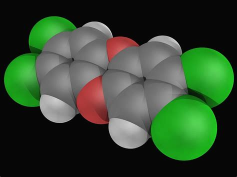 In popular terminology, dioxin has become a synonym for one specific dioxin, Dioxin (tcdd) Molecule Digital Art by Laguna Design