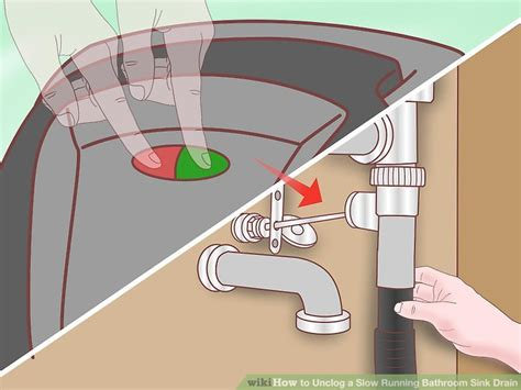 kitchen sink drains slowly simple ways to unclog a bathroom sink wikihow 8477