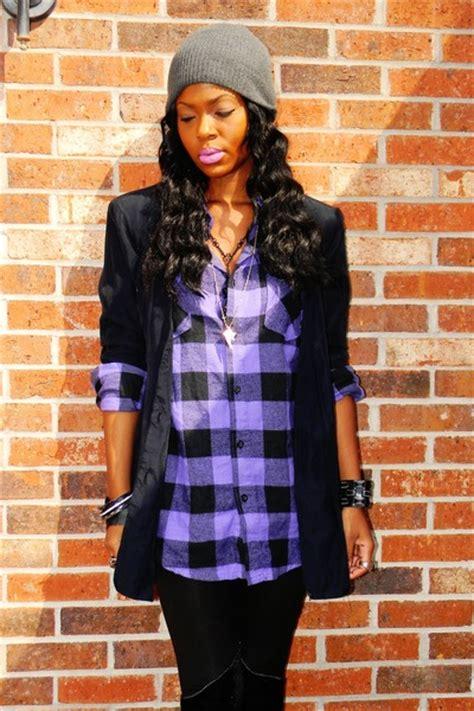 "Purple Plaid Shirts, Black Vintage Blazers   ""Dude (Looks ..."