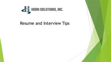 Tips For Resumes And Interviews by Resume And Tips