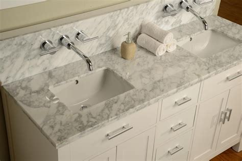 Wall Mount Faucet Bathroom Vanity by 63 Quot Hutton Vanity Sink Console With Pearl White