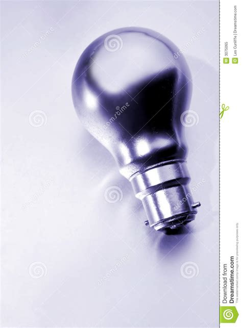 silver light bulb royalty free stock photo image 3075065