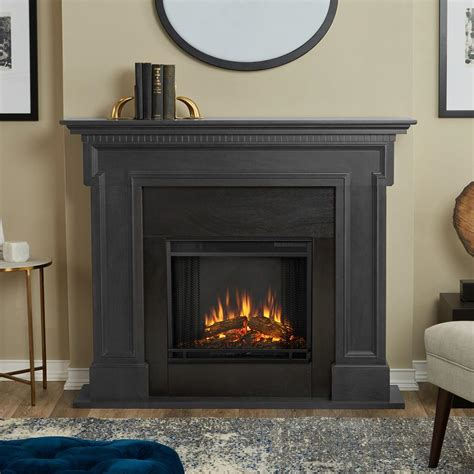 real flame thayer   electric fireplace  gray