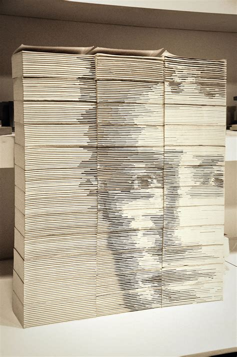 mark zuckerberg portrait created  carved stacked