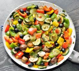 rainbow vegetable side recipe vegetables olives and vegetable sides