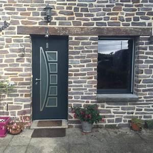 Porte Entree Maison : porte d 39 entr e moderne en alu sur une maison typiquement ~ Premium-room.com Idées de Décoration