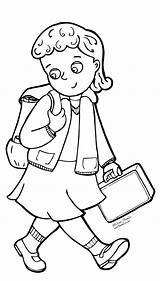 Coloring Uniform Drawing Going Pages Sketch Children Kindergarten Grade Getcoloringpages Ir sketch template