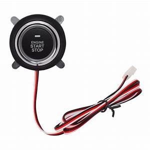 Button Pke Start Stop Car Engine With Wire Circuit Board
