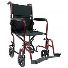 karman 19 inch aluminum lightweight transport chair 19 lbs burgundy walgreens