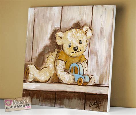 tableau ourson voiture pour chambre de bb vente de tableaux nounours pour la dco d enfants