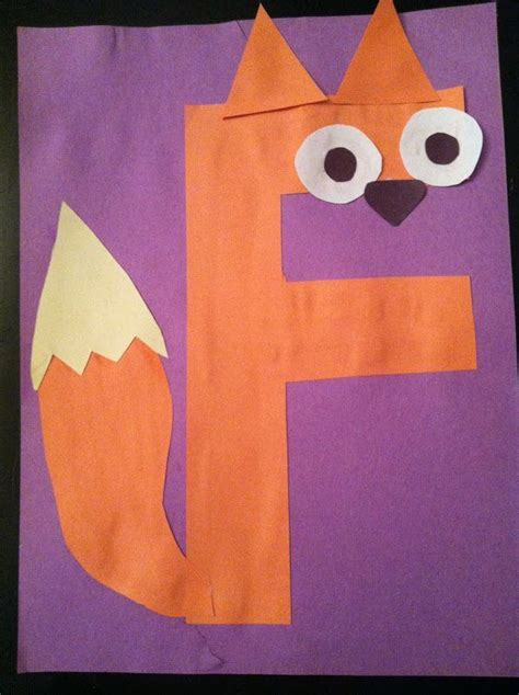 letters kindergarten preschool alphabet craft f fox 158   4c94e85d76c02f63e335d66881d3e7ff letter art alphabet crafts