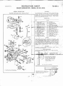 The Weber 30 Dica Carburetor