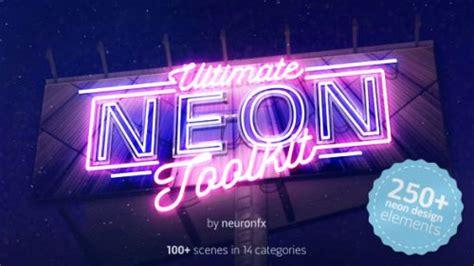 amazing neon typography  effect templates pixel