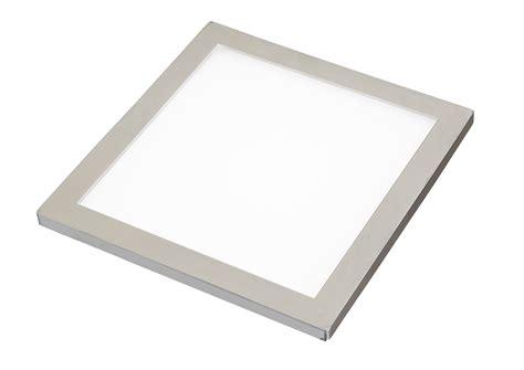 image of brushed nickel cabinet sirius led flat panel cabinet light