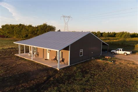 The mueller small barn can be the perfect home for a couple or small family. Open Spaces - Custom Steel Buildings Photo Gallery ...