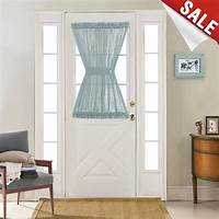 french door curtain panels Privacy French Door Curtains Linen Textured Look French ...