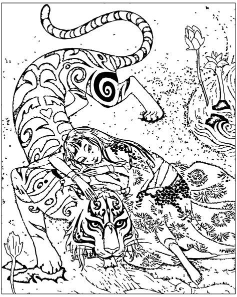 Chine inspire livre tigre le devoue de qifeng shen - Chine