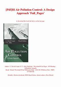 Air Pollution And Control Pdf