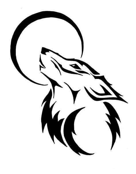 simple wolf drawings    simple wolf