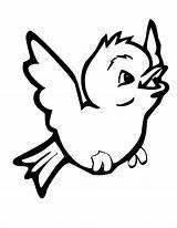 Coloring Robin Pages Cute Flying sketch template